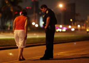 Standard Field Sobriety Tests at DUI Checkpoints walk a straight line